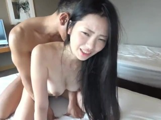 Nude woman having sex and coming